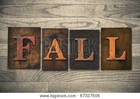 Fall Wooden Letterpress Theme