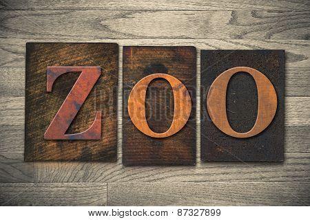 Zoo Wooden Letterpress Theme