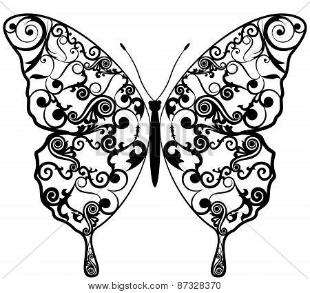 Exotic Butterfly Abstract.