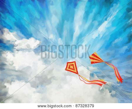 Sky Vector Artistic Background