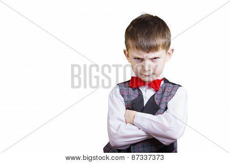 Stubborn,sad,upset  little boy