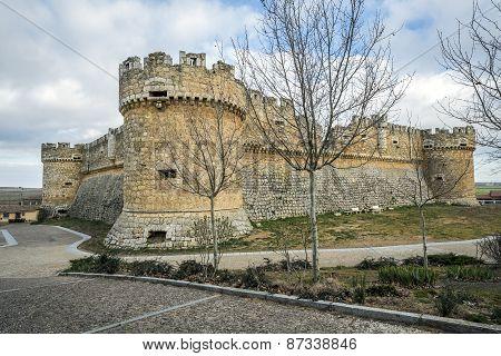 Grajal de Campos Castle in province Leon Spain poster