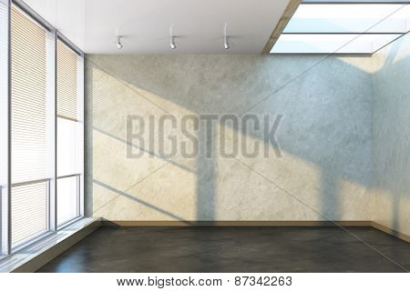 3d rendering of the empty office room