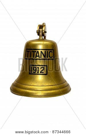 Titanic Ship  Bell  On White Background