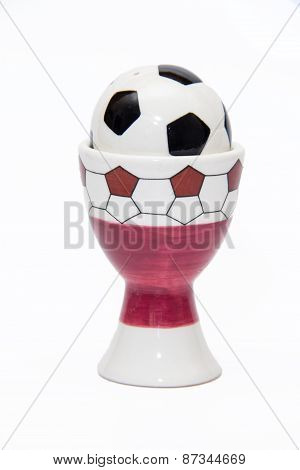 Utensils For Salt In The Form Of A Soccer Ball