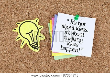 Motivational Business Phrase Quote Note