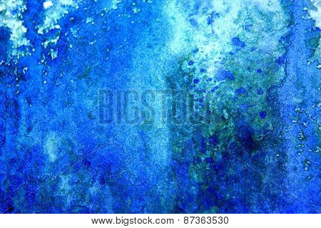 Blue with Green Watercolor Background 6
