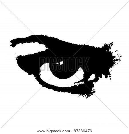 Grunge Angry Eye