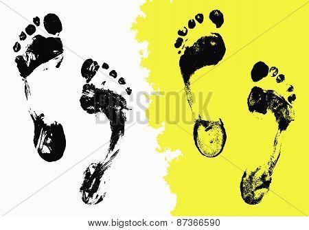 Black Foot Imprints