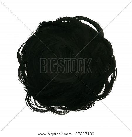 Black Yarn Ball Background