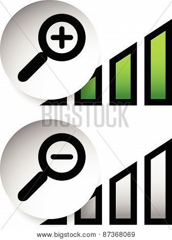 Magnification Indicators. Magnifiers With Level Indicators.
