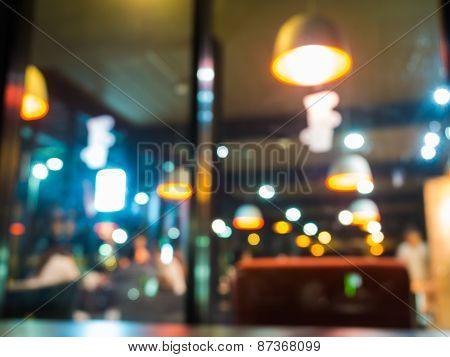 Blurry cafe/restaurant background
