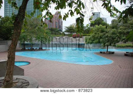 Wading Pool In Public Park