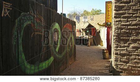 An Entrance To Chinatown, Old Tucson, Tucson, Arizona