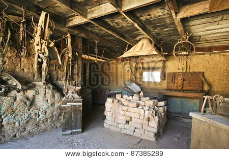 A Blacksmith Shop Of Old Tucson, Tucson, Arizona