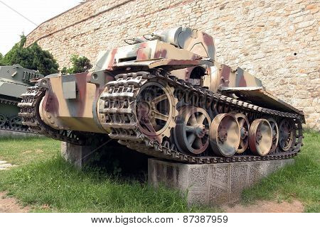 Armored vehicle from second world war. Second world war tank. poster