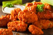 Hot and Spicy Boneless Buffalo Chicken Wings with Ranch poster