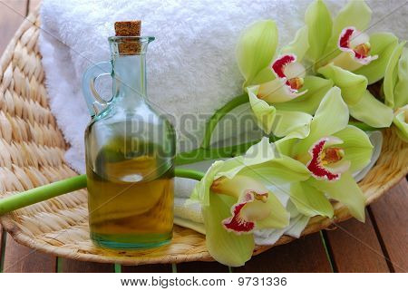Massage Oil And Orchids