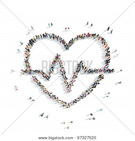people in the shape of heart, cardio.