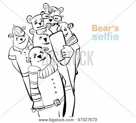bear selfie. many bears do self photo.
