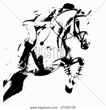 Jumping (rider And Horse)