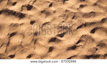 Desert sand pattern texture background from the sand in Sharm el-Sheikh, Egypt