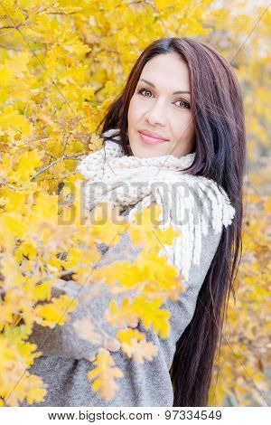 Portrait Of Beautiful Middle Age Woman