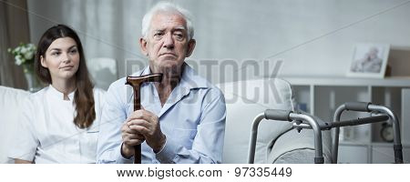 Despair Senior Man