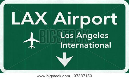 Los Angeles Lax Usa International Airport Highway Road Sign