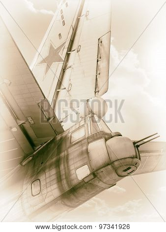 Old Soviet bomber