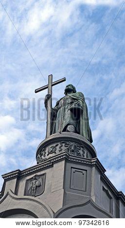 Vladimir Baptist Monument (vladimir The Great Aka Great Prince Of Kiev) In Kyiv, Ukraine.