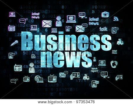 News concept: Business News on Digital background