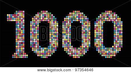 Thousand Balls Shiny Beads Number Black
