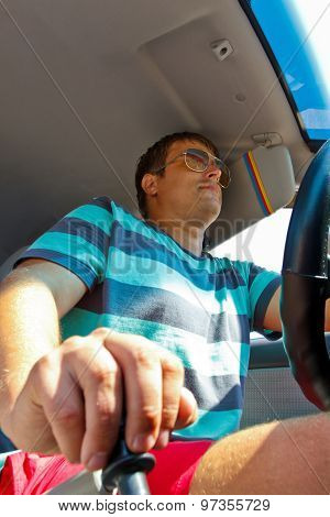 the driver in the car