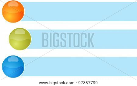 poster of blank business strategy concept infographic diagram curved bullet list items illustration Three 3