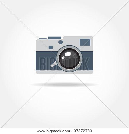 Abstract camera logo. Vector design.
