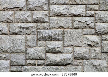 Granite brick wall texture