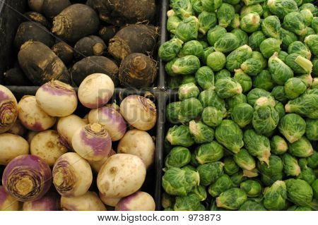 Brussel Sprouts Turnips