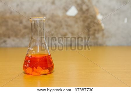Group Of Laboratory On Background.