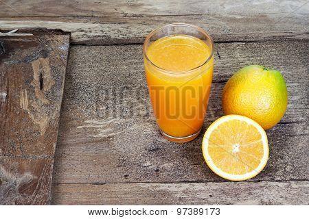 Orange Fruit Sliced In Half