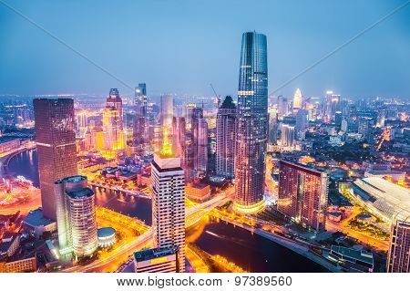 Tianjin At Night