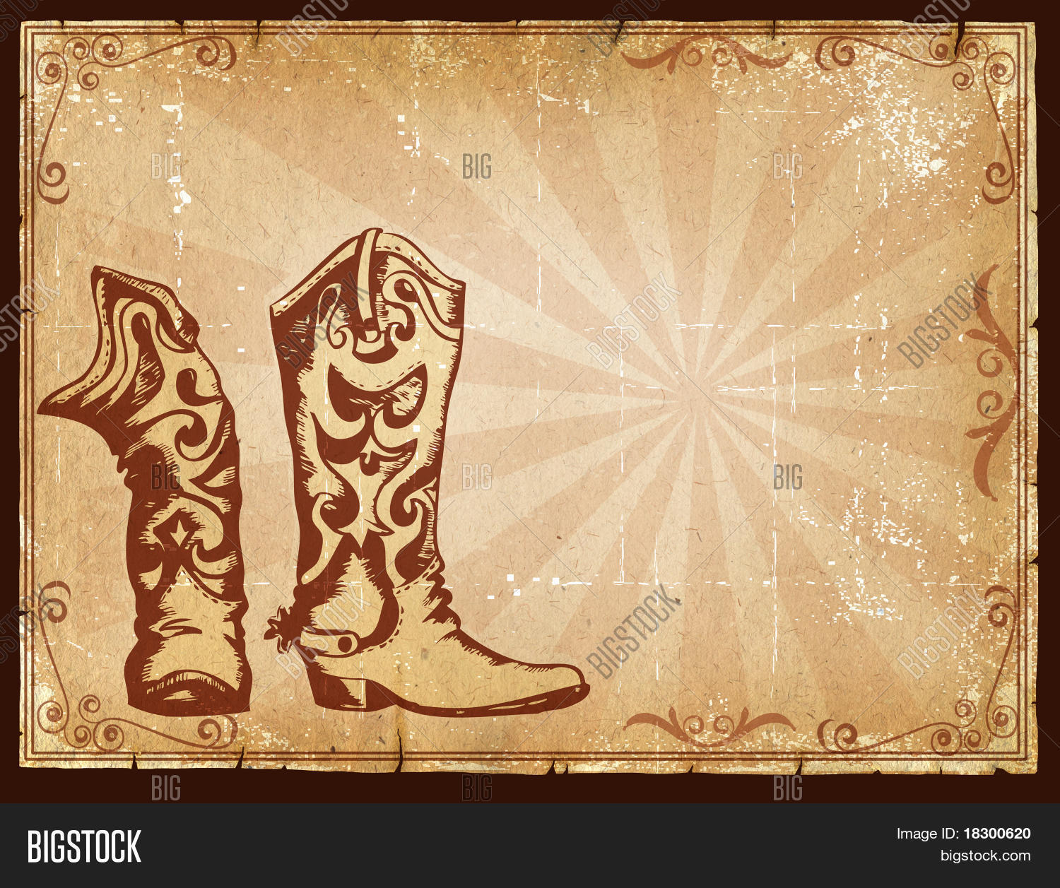 Cowboy Old Paper Image & Photo (Free Trial) | Bigstock