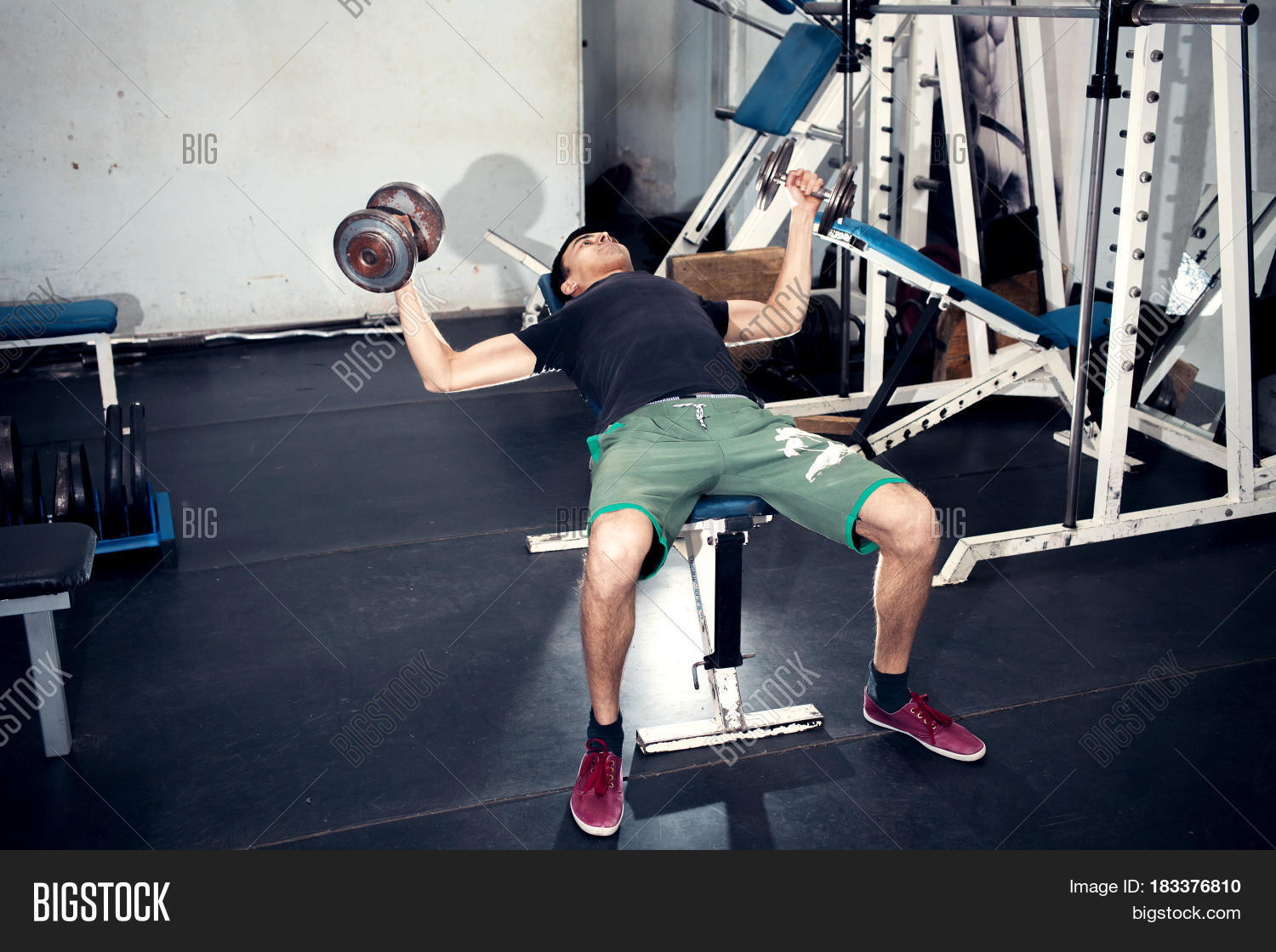 Exercise dumbbells image & photo free trial bigstock