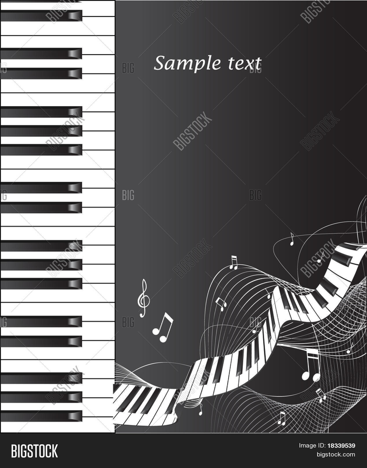 Abstract Piano Background 10 Eps Vector