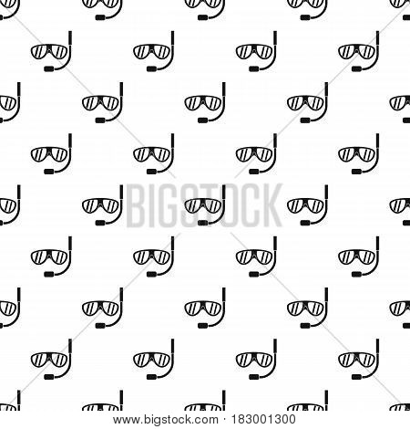 Swimming mask pattern seamless in simple style vector illustration