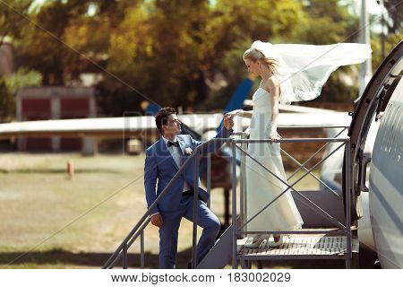 Two In Love In The Windy Wedding Day