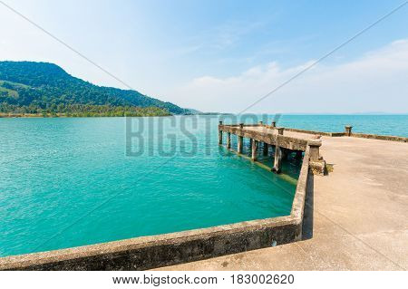 Concrete Pier Of Koh Chang