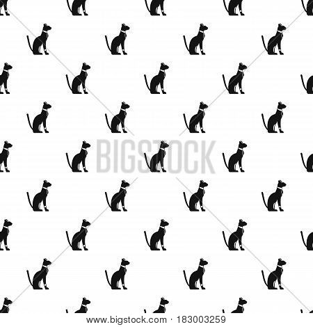 Egyptian cat pattern seamless in simple style vector illustration
