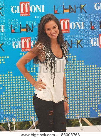 Giffoni Valle Piana Sa Italy - July 18 2011 : Katy Louise Saunders at Giffoni Film Festival 2011 - on July 18 2011 in Giffoni Valle Piana Italy