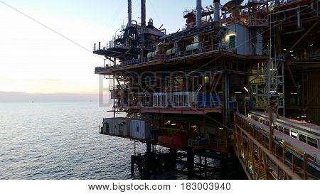 Offshore construction platform for production oil and gas,Oil and gas industry